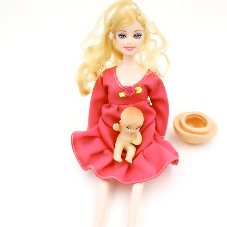 2016 new Educational Real pregnant doll suits mom doll have a baby in her tummy for barbies C0A405 Q050<br><br>Aliexpress