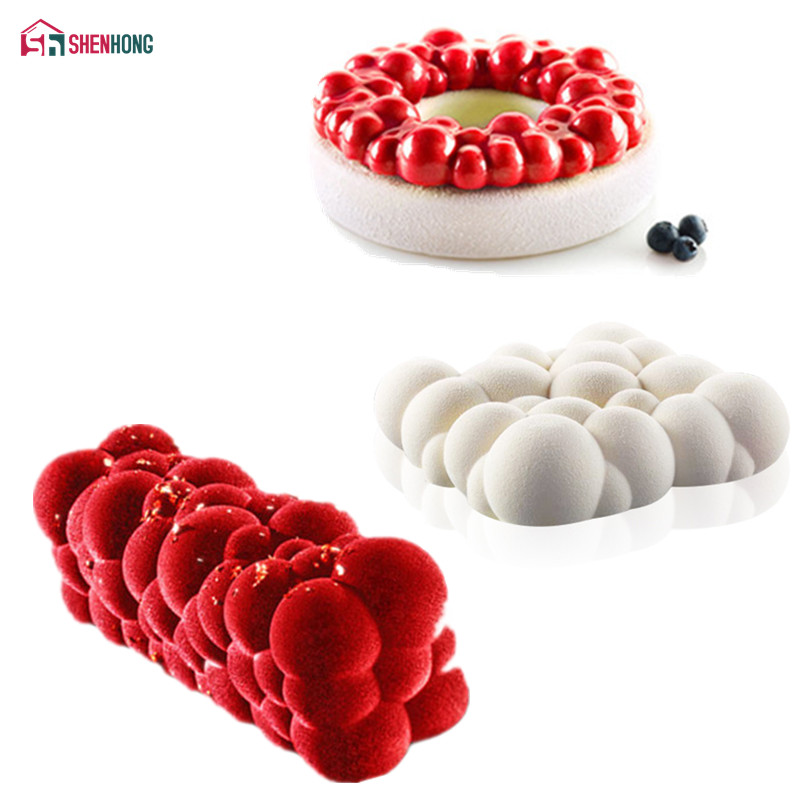 Runy Silicone DIY Sugar Craft Fondant Mold Bakeware Baking Pastry Tool Strawberry Shape Cake Mold Kitchen Accessories