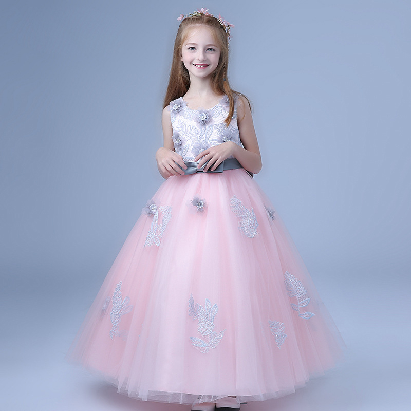 2018-New-Children-s-dress-princess-dresses-for-girls-teenagers-wedding-party-piano-clothing-long-flowers (1)