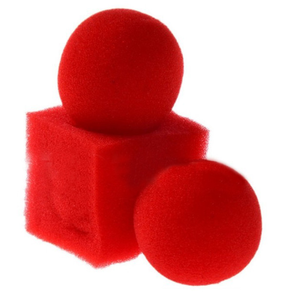 Cheaprime Kingmagic Magic Ball To Square Sponges Tricks Set Red Magic Tricks 2 pcs Circular Sponge Ball 1pc Square Sponge Ball(China (Mainland))