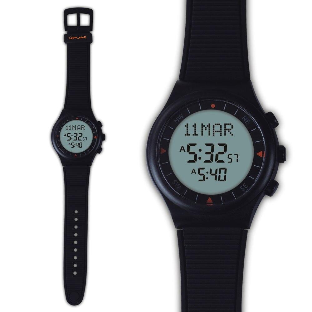 Al-Marameen Muslim Wrist Watch 6506 Black Color Islamic Azan Watch 100% New Origin 1pcs Gift Package<br>
