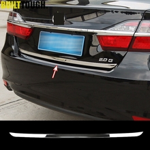 For 2012-16 2017 Toyota Aurion Altis Camry Asian Model Chrome Rear Trunk Back Door Cover Trim Tail Gate Moulding Styling Sticker