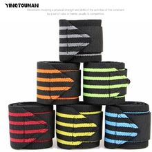 YINGTOUMA 2PCS/lot Outdoor Hand Wraps Wrist Strap Weight Lifting Wrist Wraps Powerlifting Bodybuilding Breathable Wrist Support(China)