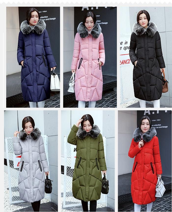 2017 Winter Women Coat Thicken Warm Long Jacket women coat girls long slim big coat jacket Down Parka+16 (2)