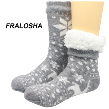 Buy FRALOSHA new style reindeer Home floor Socks Home Slipper Women's Winter Warm Fuzzy Anti-Skid Lined Indoor Floor Slipper Socks for $12.24 in AliExpress store