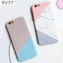 Unique Design Best Price Geometric Splice Pattern Marble Case Phone Case PC Hard Shell Back Cover For iphone 7 /7Plus