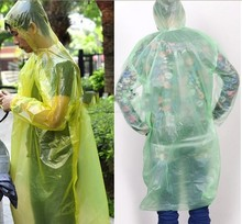 2Pcs Disposable Raincoat Adult Emergency Waterproof Hood Poncho Travel Camping Must Rain Coat Unisex Free Shipping