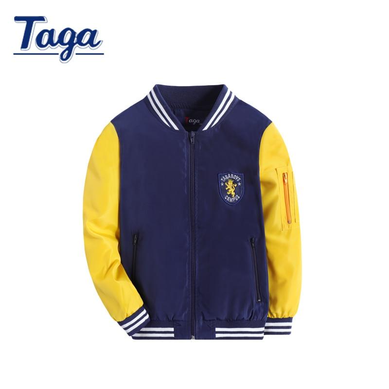 New 2016 Spring Autumn Boys Jacket Outwear Kids Children Baseball clothing Teenage Coat Child Fashion Zipper Clothes 3-14T <br>