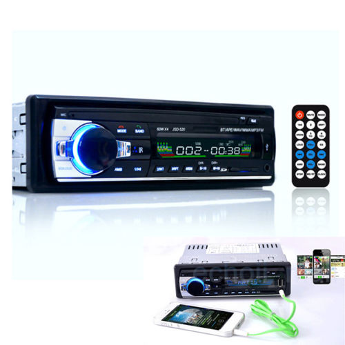 Bluetooth Car Stereo FM Radio In-Dash Receiver Receiver Aux Input Receiver SD USB MP3 MMC WMA(China)