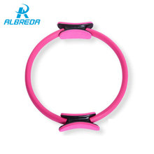 ALBREDA Yoga Ring Pilates Magic Fitness Circle Yoga Wheel Accessories Home Weight Lose Fitness Equipment Sports Aerobics Circle(China)