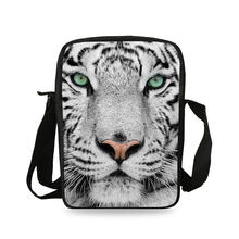 Casual Animal Prints Shoulder Crossbody Bags for Boys Cool White Tiger Shoulder Bag Trave Children Girls Small Women Bag