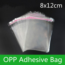1000pcs 8*12cm Self Adhesive Clear OPP/Poly Jewelry Bag Transparent OPP Bag Packing Plastic Gift Bag Resealable Gift Pouch(China)