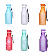 Best Quality My lemon juice bottle sports Breakproof cicycle stylish space Bottle with the word Drinkware 550 ml Water Bottle(China)