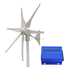 Free shipping ! MAX power 400w with 6blades ,low start wind speed ,high efficiency wind turbines +wind solar charger