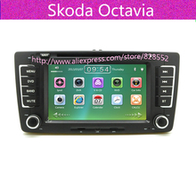 Free Shipping HOT selle Car DVD Player For Skoda Octavia Built-in GPS Radio TV Bluetooth Audio Video Stereo System