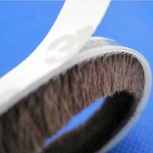 9x9mm 5meters/lot Grey/Brown color Door Window Draught Excluder Brush Weather Strip Seal Tape(China)