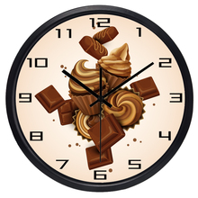 Chocolate Dessert Kitchen Store Cup Cake Wall Clock
