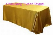"3pcs Anti Gold Satin Rectangle Table Cloth  120""x78"" ,Satin Table cloth For Weddings Event &Hotel&Banquet Decoration"