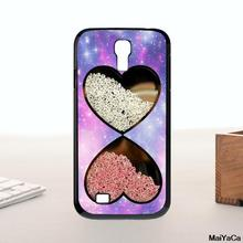 MaiYaCa Bling Rhinestone Diamonds Crystal Heart pattern Plastic PC Cell Phone For Samsung galaxy s4 mini case(China)
