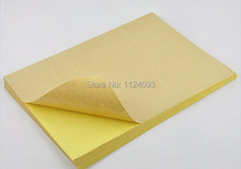 A4 printing paper with stickness,paper stickers ,label paper for Laser jet printer ,made of  100% wood pulp,50pcs/bag