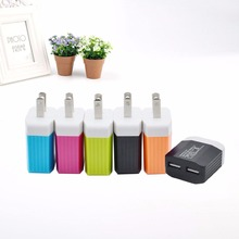 5V 1.2A USB 2 Ports Home Travel AC Power Charger Adapter US Plug For Smart Phones Tablet 4*2.3*6cm 5Color