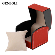 GENBOLI Leather Jewelry Casket Watch Bracelet Display Box Diy Gift Case Packaging Storage Stand Rack Organizer Showcase