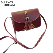 Mara's Dream Vintage 2017 Small Bag Women 5 Color Tassel Messenger Bags Female Handbag Shoulder Bag Flap Women Bag