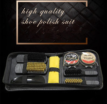 Portable Black & Neutral Polish Brush Set Professional Shoe Care Tool Practical Shoes Shining Polish Boots Cleaning Kit Brushes(China)