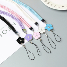 Cute Flower Colorful Mobile Phone Lanyard Phone Straps Neck Hanging Rope Card USB Holder Chain Keychain Charm Cords P15(China)