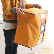 Hot Sale Storage Bag Box Portable Organizer Non Woven Underbed Pouch Storage Box Bamboo Clothing Storage Bag