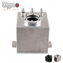 Dyno Hot  Universal 2L Aluminium Oil Catch Tank/Fuel Cell/Fuel Tank with AN6 black or silver
