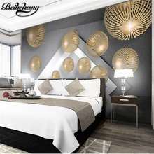 beibehang Custom Photo Wallpaper 3d Solid Metal Sphere Extend Space Modern Simple Background Wallpaper mural papel de parede(China)
