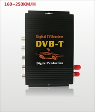 DVB-T Car 160-250km/h HD MPEG-4 Two Chip Tuner Two Antenna DVB T Car Digital TV Tuner Receiver SET TOP BOX