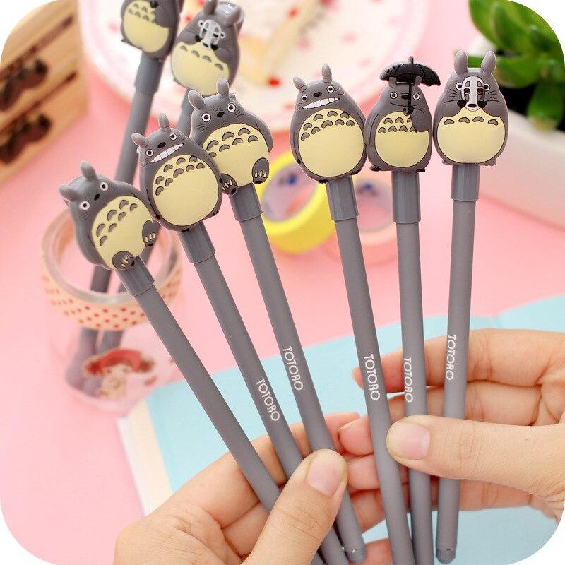 48pcs/lot Factory direct sale South Koreas My Neighbor Totoro gel pen cute totoro pen black neutral gek pen Japanese stationery<br><br>Aliexpress