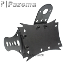 Pazoma Motorcycle Black Maltese Axle Side Mount License Plate Tail Light Bracket Chopper Bobber(China)