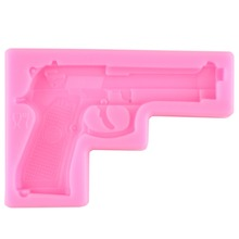 Facemile 1PCS Gun Pistol 3D Silicone Candy Clay Gum Sugar Chocolate Ice Mold Fondant Mold Cake Decorating Tool 50-484
