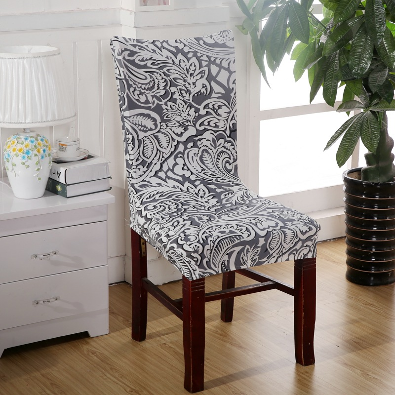 Aliexpress Buy Grey Leaf Chair Covers Cheap Jacquard Stretch