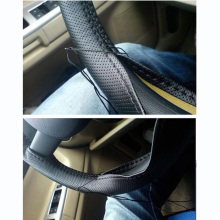 38cm New Universal Braid On The Steering Wheel Sew Microfiber Car Steering Wheel Cover To Cover The Entire Single Connector(China)