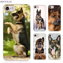 BINYEAE german shepherd dog Clear Cell Phone Case Cover for Apple iPhone 4 4s 5 5s SE 5c 6 6s 7 Plus(China)