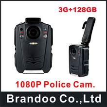 A12 full HD 1080P 128GB Police Cam DVR Hands Free Police Body Security Worn Camera BC001