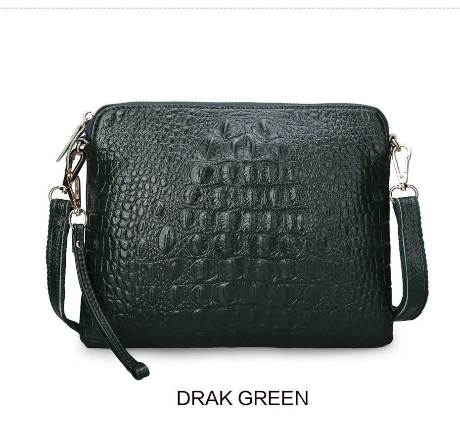 95fcee79d27b Women Messenger Bags Cute Clutch Crossbody Bags Genuine Leather Crocodile  Shoulder Bags Hot Sale Fashion Alligator Female