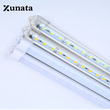 5* 0.5m DC 12V 5630 5730 LED bar Strip Hard Light tube waterproof+ U Aluminium profile + PC Cover Super Bright(China)