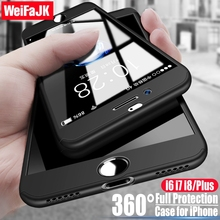 Buy WeiFaJK Luxury Hard 360 Full Protect Case iPhone 6 7 8 Plus Phone Cases iphone X 8 7 6 6s Case Cover Tempered Glass for $2.74 in AliExpress store