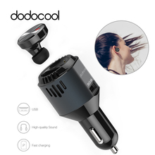 dodocool 3 in 1 Multi-functional Car Charger with Wireless Earbud earphone Air Purifier Oxygen Bar for iphone 7 6s Samsung S7 S6(China)