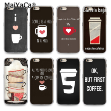 MaiYaCa Printed Chalkboard Coffee Love with Heart I Love Coffee Transparent TPU Phone Cover For iPhone 4s 5s 6s 6plus 7 7plus(China)