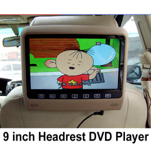 9 Inch Car Headrest Monitor With 800*480 Screen Built-in Speaker Support USB SD DVD Player Games Remote Control For Ford KIA BMW
