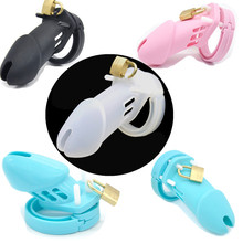 Buy CB6000 CB6000S Soft Silicone Male Chastity Cage Cock Cage Chastity Device Sex Toys 5 Cock Ring Penis Sleeve Men G136/7