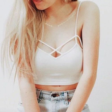 1PC Fashion Sexy Women Cut-Out Bra Crop Bustier Corset Soft Organic Cotton Tank Blouse Vacation PartyTank Top 2016 Hot(China)