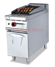RY-GB-979 Vertical gas lava rock grill with cabinet barbecue grill oyster seafood gas grill(China)