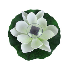White Solar lotus night Night Light Glow Party Supplies Children Gifts